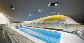 London Aquatics Centre for the 2012 Summer Olympics in London, England, 2011