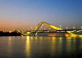 Sheikh Zayed Bridge in Abu Dhabi, United Arab Emirates, 2010