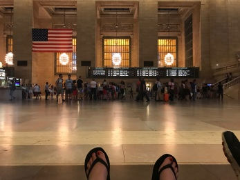 Lindsey chilling in Grand Central Station