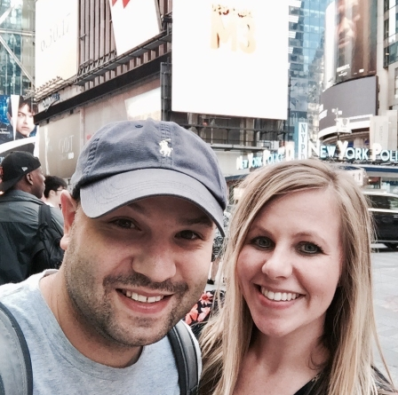 Lindsey and Me in Times Square