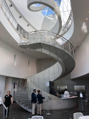Winding staircase to the Museum