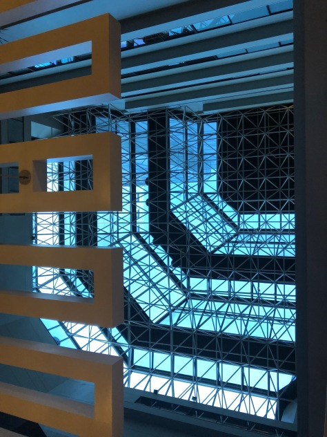 Skylight in our Hotel Lobby